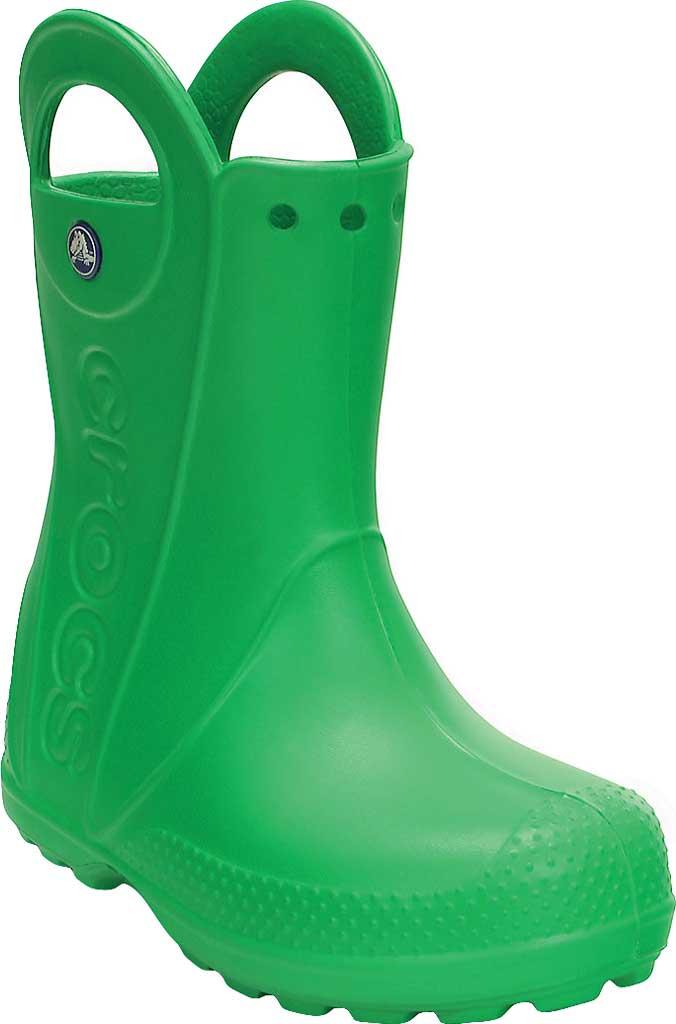 Children's Crocs Handle It Rain Boot Junior, Grass Green, large, image 1