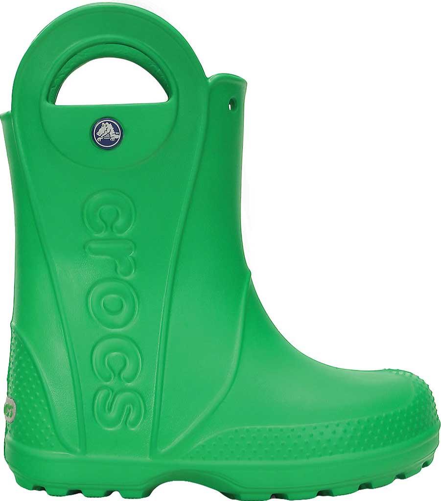 Children's Crocs Handle It Rain Boot Junior, Grass Green, large, image 2