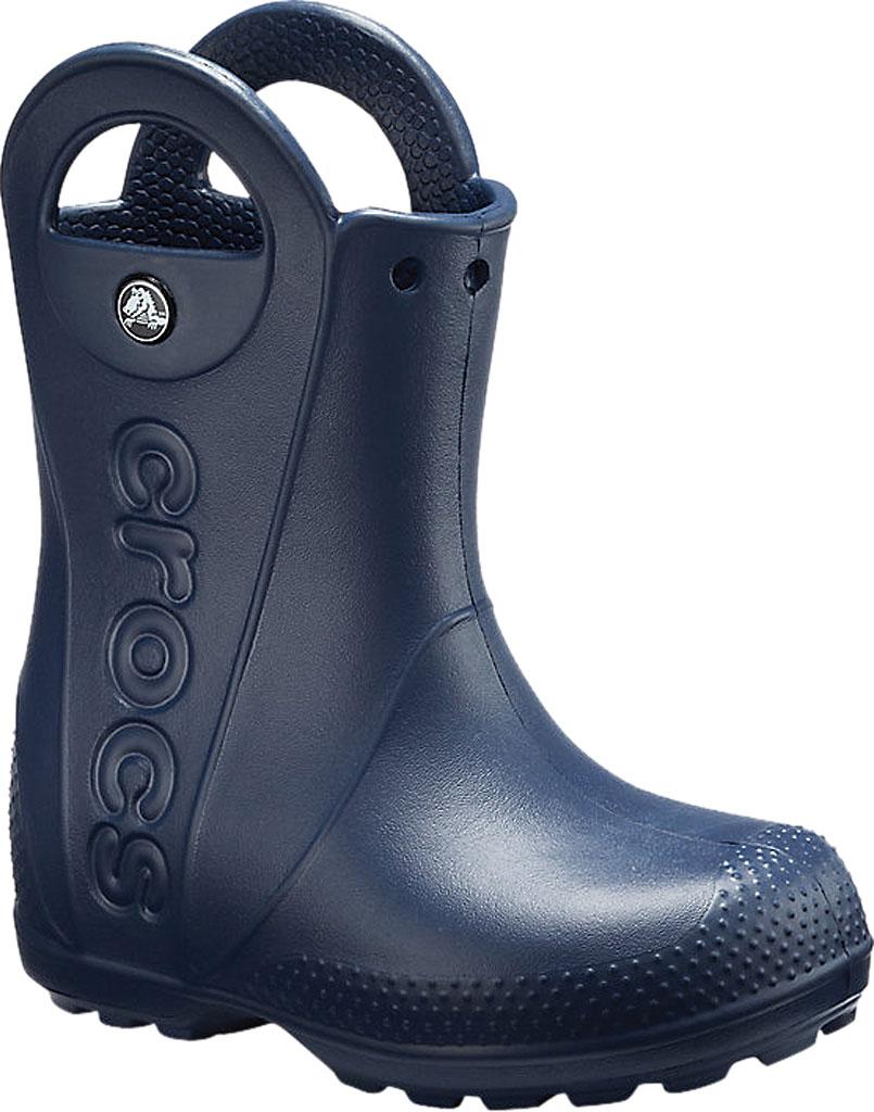 Children's Crocs Handle It Rain Boot Junior, Navy, large, image 1