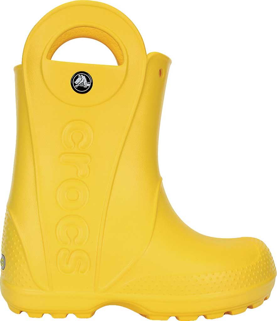 Children's Crocs Handle It Rain Boot Junior, Yellow, large, image 2