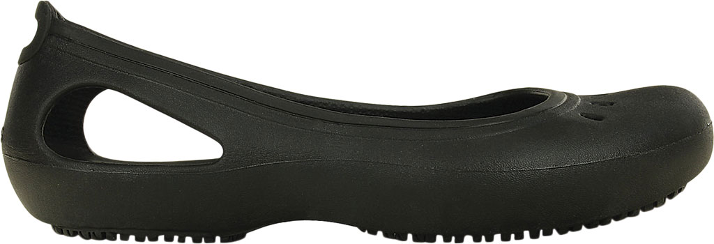 Women's Crocs Kadee Work Flat, Black, large, image 2
