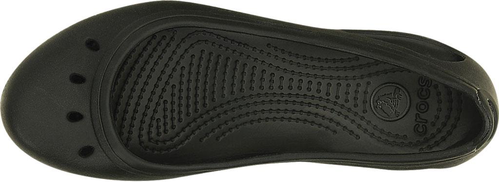 Women's Crocs Kadee Work Flat, Black, large, image 4