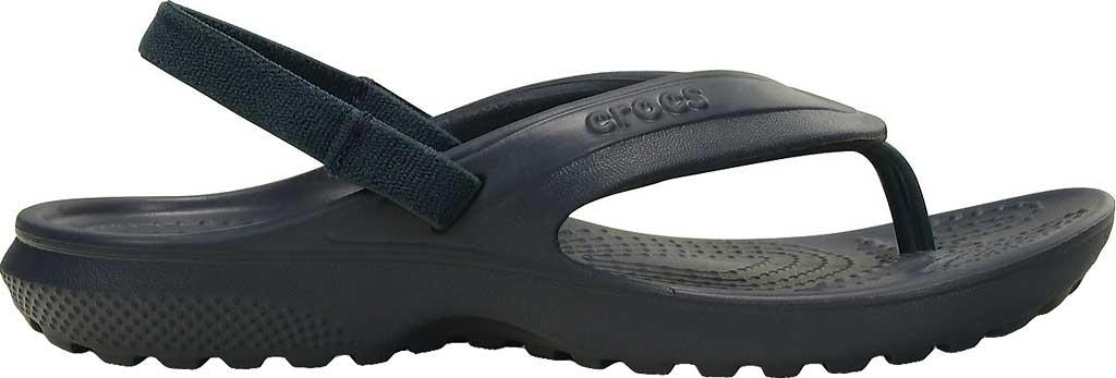 Infant Crocs Classic Flip Flop Sandal Kids, Navy, large, image 2