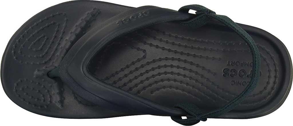 Infant Crocs Classic Flip Flop Sandal Kids, Navy, large, image 4