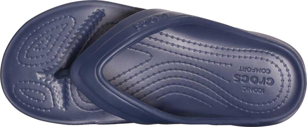Children's Crocs Classic Flip Flop Sandal Juniors, Navy, large, image 4