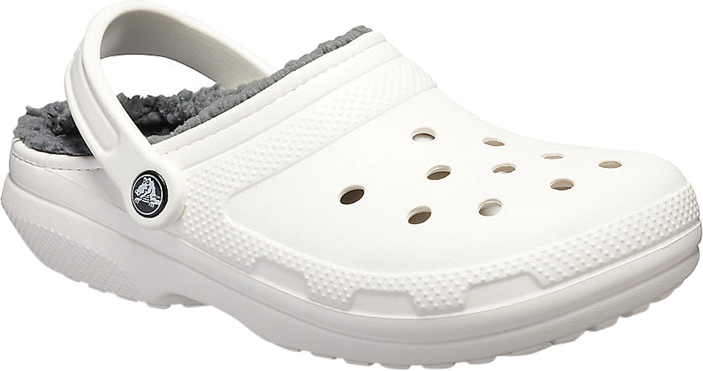 Crocs Classic Lined Clog, White/Grey, large, image 1