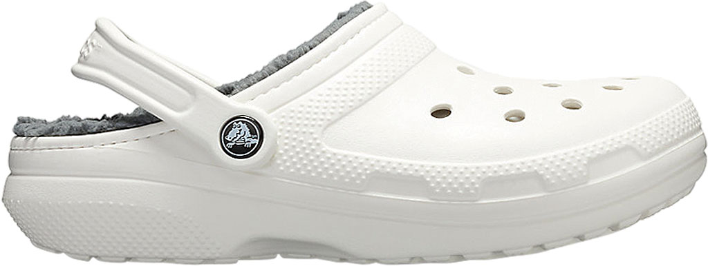 Crocs Classic Lined Clog, White/Grey, large, image 2