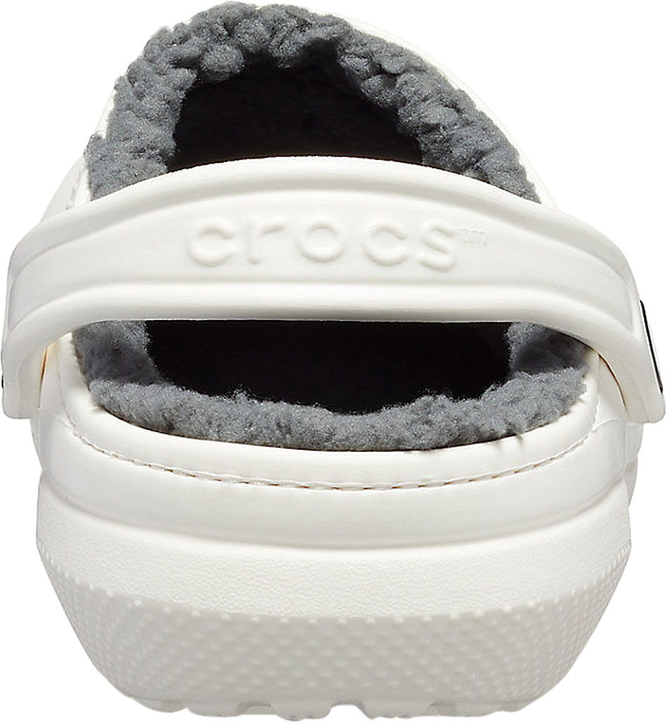 Crocs Classic Lined Clog, White/Grey, large, image 3