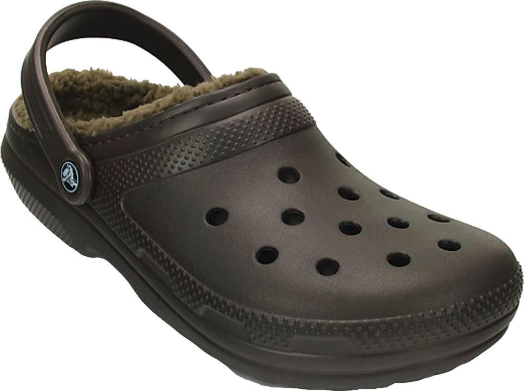 Crocs Classic Lined Clog, Espresso/Walnut, large, image 1