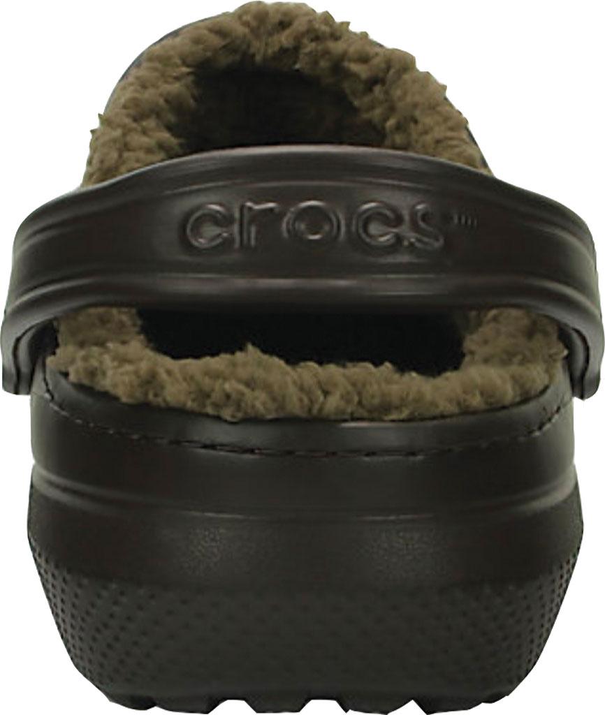Crocs Classic Lined Clog, Espresso/Walnut, large, image 3