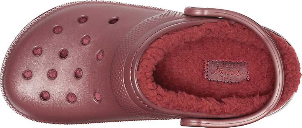 Crocs Classic Lined Clog, Burgundy/Burgundy, large, image 4