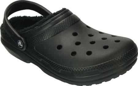 Crocs Classic Lined Clog, Black/Black, large, image 1