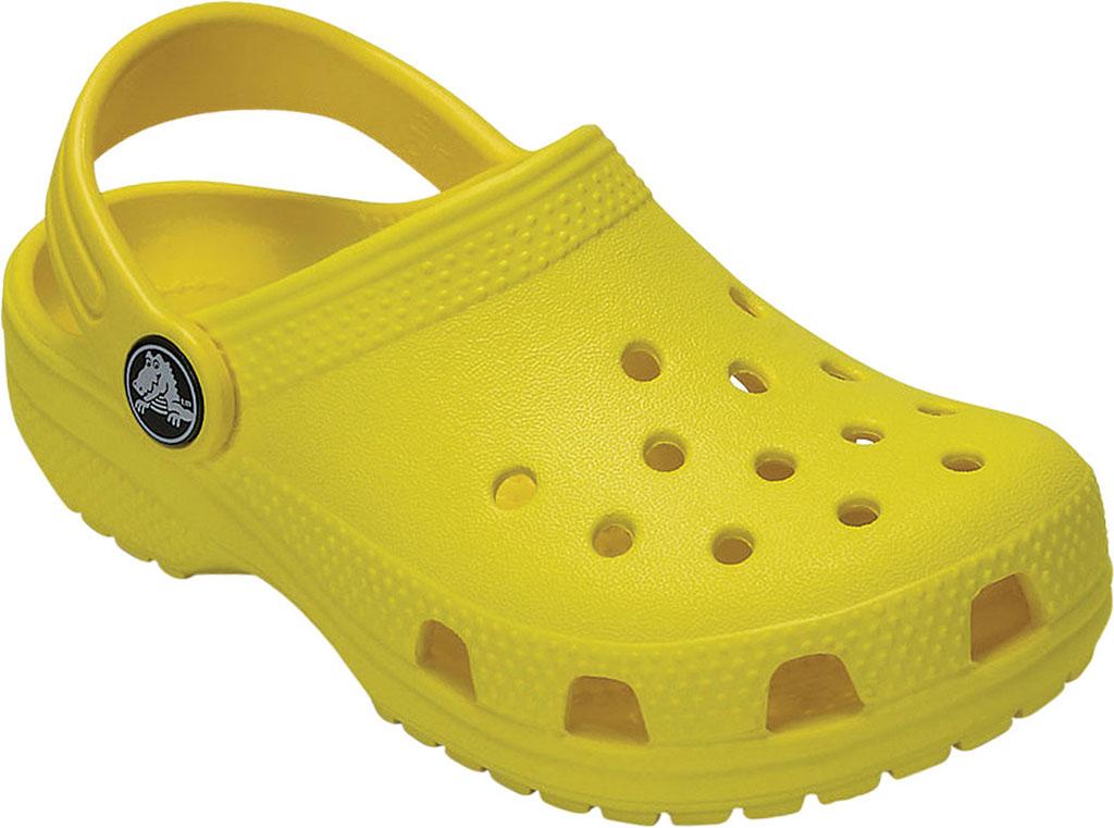 Children's Crocs Kids Classic Clog Juniors, Lemon, large, image 1