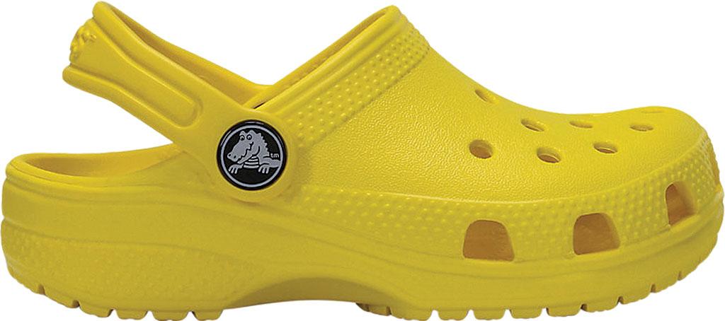 Children's Crocs Kids Classic Clog Juniors, Lemon, large, image 2