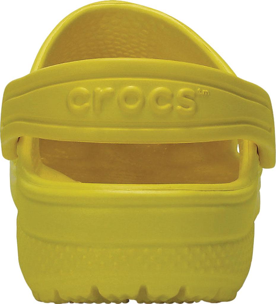 Children's Crocs Kids Classic Clog Juniors, Lemon, large, image 3