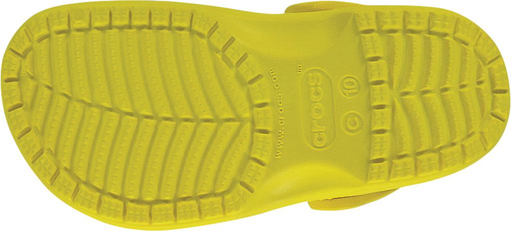 Children's Crocs Kids Classic Clog Juniors, Lemon, large, image 5