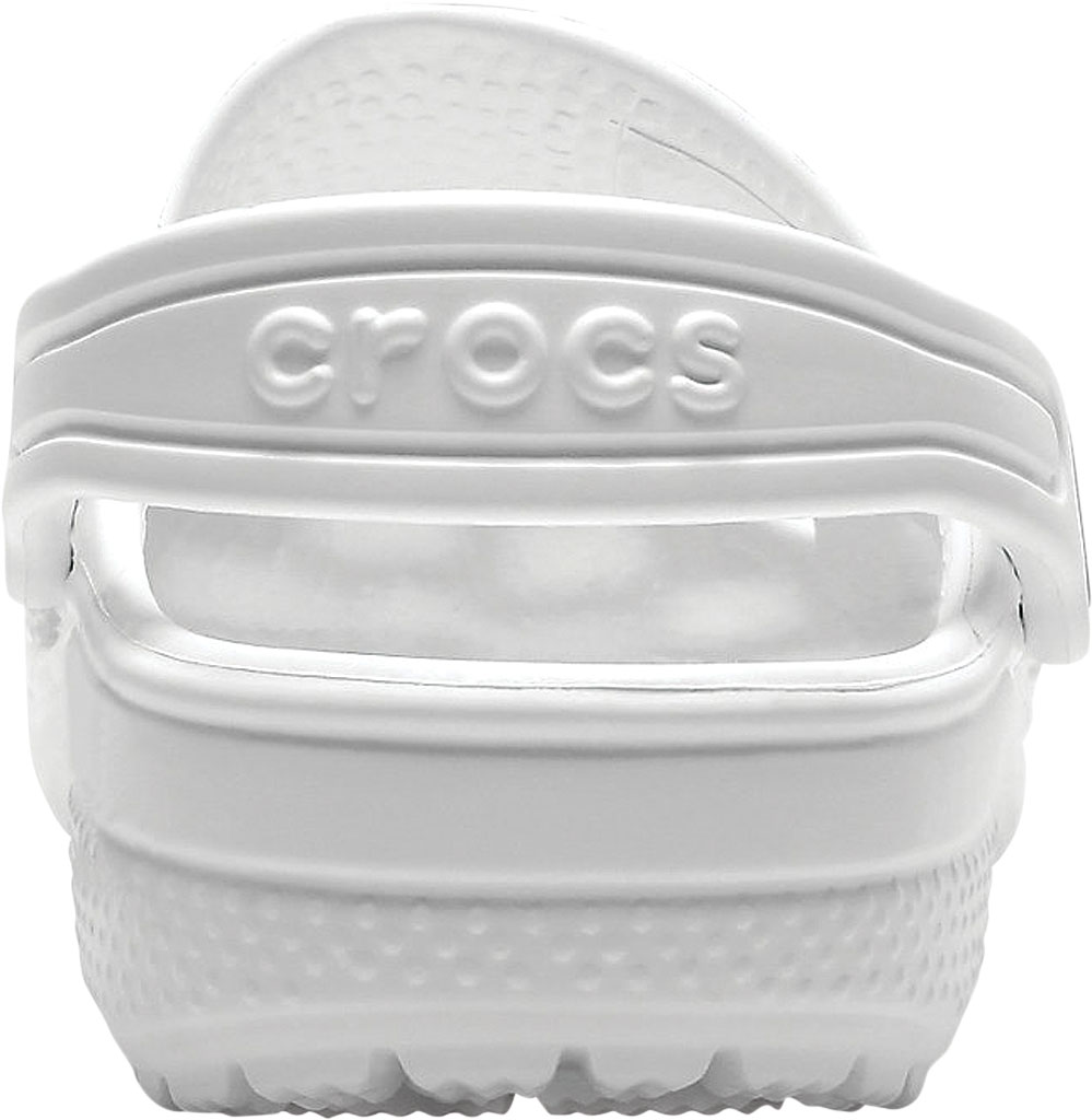 Infant Crocs Kids Classic Clog, White, large, image 3