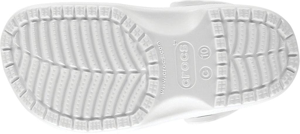Infant Crocs Kids Classic Clog, White, large, image 5