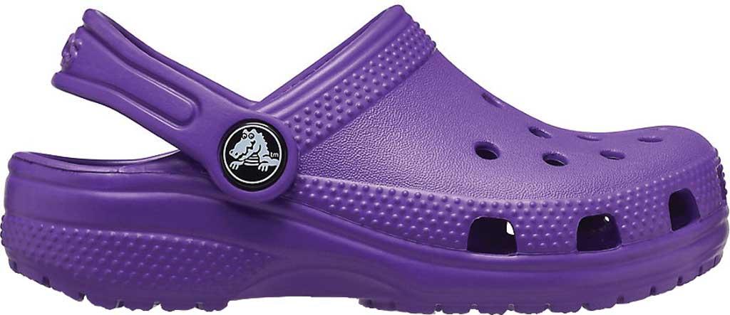 Infant Crocs Kids Classic Clog, Neon Purple, large, image 2