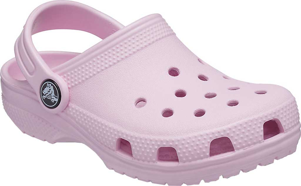 Infant Crocs Kids Classic Clog, Ballerina Pink, large, image 1