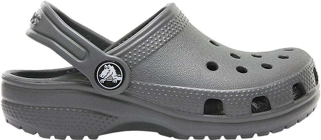 Infant Crocs Kids Classic Clog, Slate Grey, large, image 2