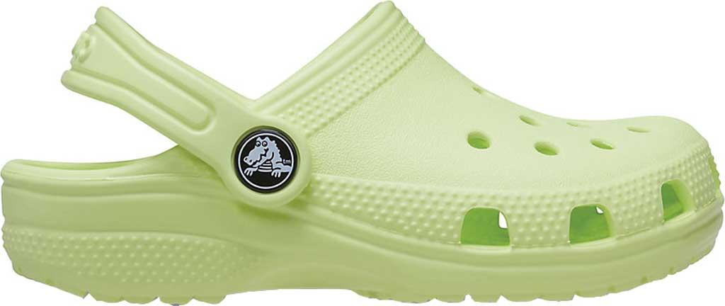 Infant Crocs Kids Classic Clog, Lime Zest, large, image 2
