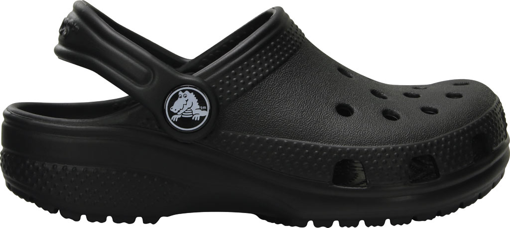 Infant Crocs Kids Classic Clog, Black, large, image 2