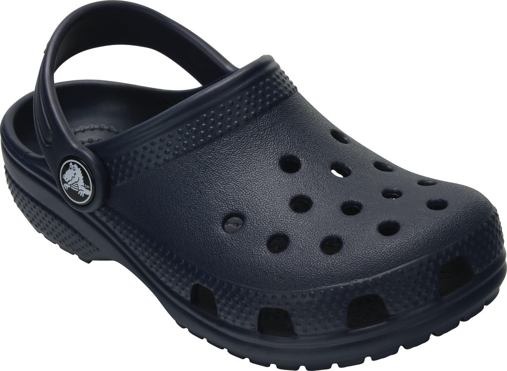 Infant Crocs Kids Classic Clog, Navy, large, image 1