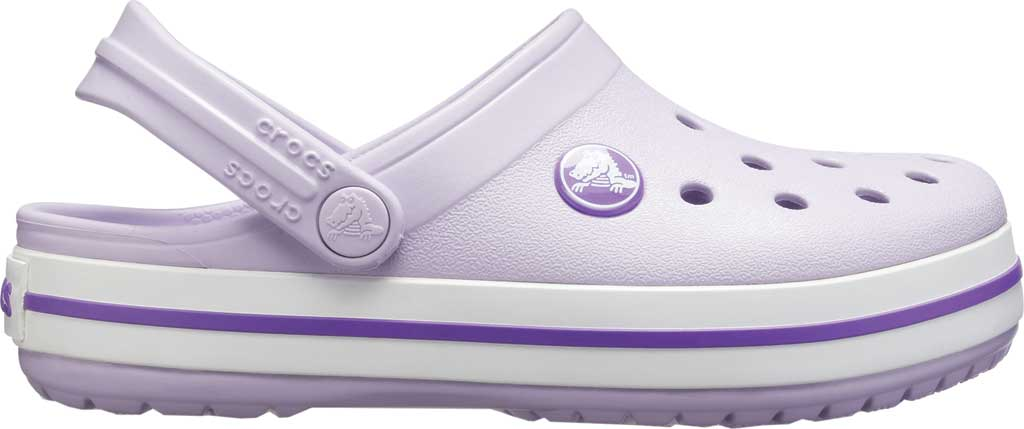 Infant Crocs Crocband Clog Kids, Lavender/Neon Purple, large, image 2