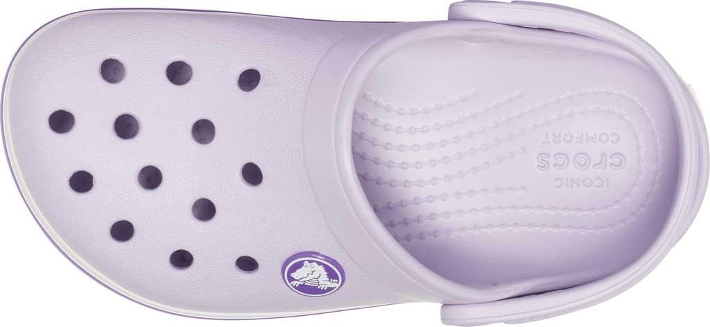 Infant Crocs Crocband Clog Kids, Lavender/Neon Purple, large, image 4