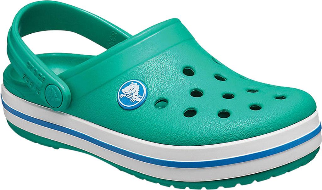 Infant Crocs Crocband Clog Kids, Deep Green/Prep Blue, large, image 1