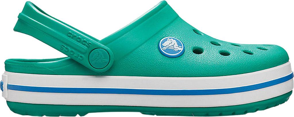 Infant Crocs Crocband Clog Kids, Deep Green/Prep Blue, large, image 2