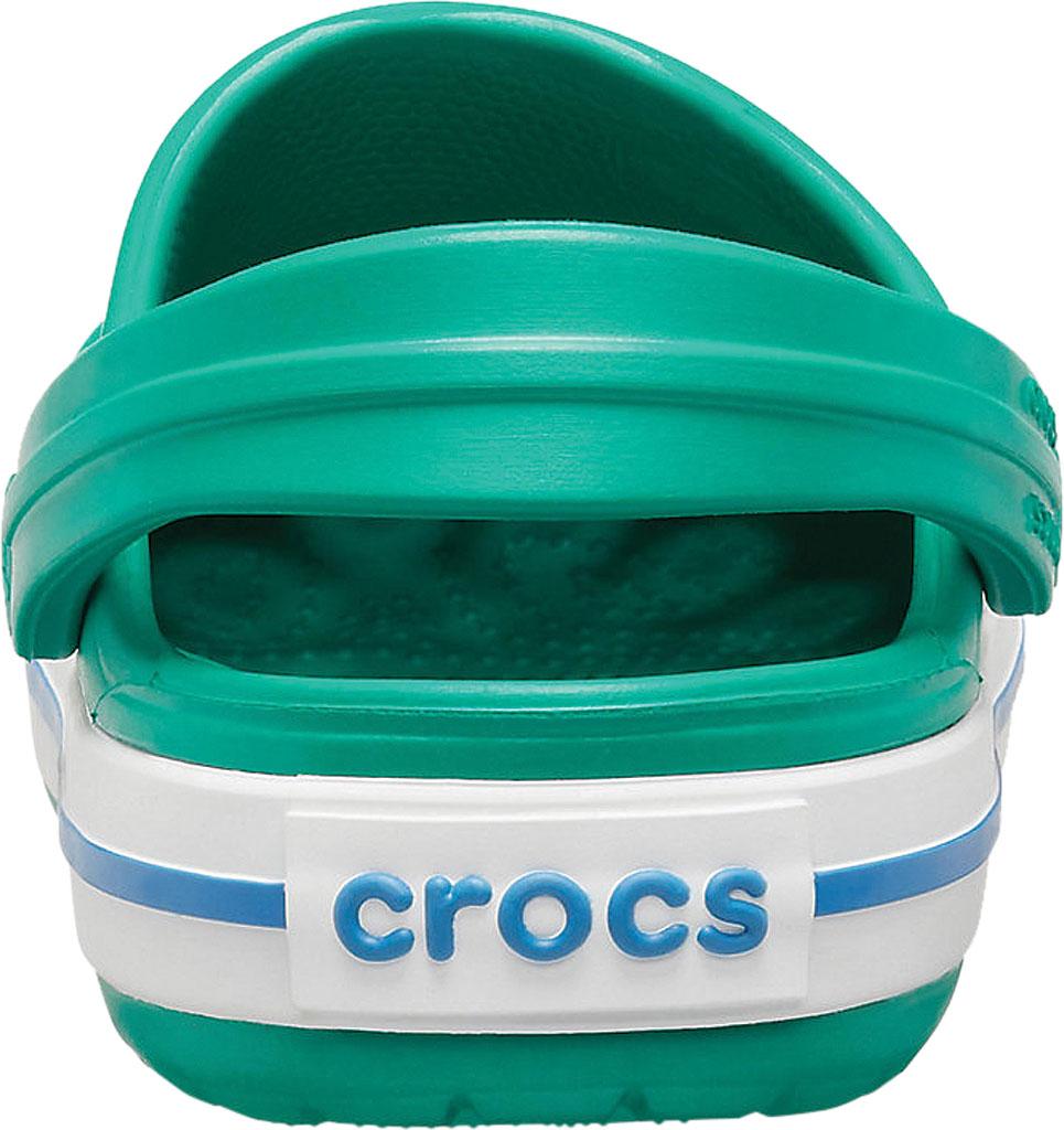 Infant Crocs Crocband Clog Kids, Deep Green/Prep Blue, large, image 3