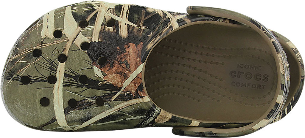 Children's Crocs Classic Realtree Clog Juniors, Khaki, large, image 4