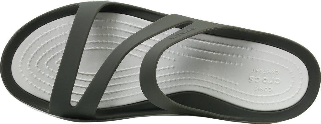 Women's Crocs Swiftwater Slide Sandal, Smoke/White, large, image 4