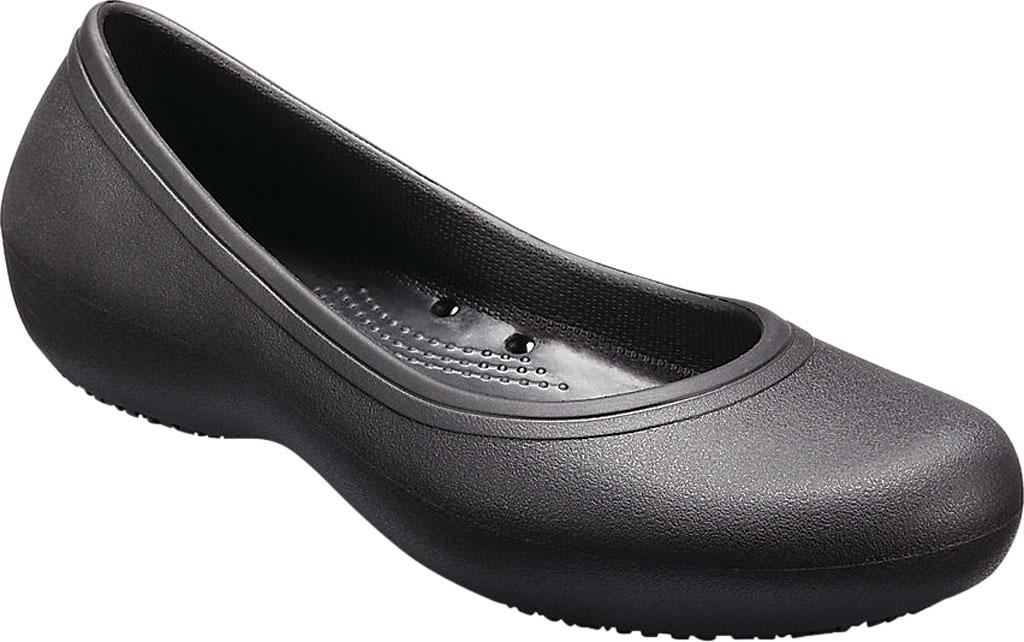 Women's Crocs At Work Flat, Black, large, image 1