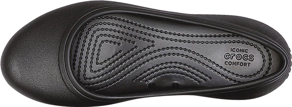 Women's Crocs At Work Flat, Black, large, image 4