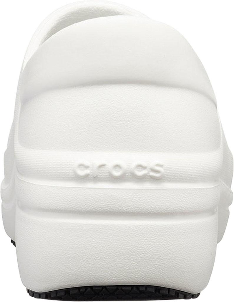 Women's Crocs Neria Pro II Closed Back Clog, White, large, image 3