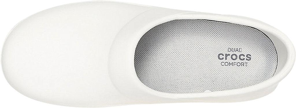Women's Crocs Neria Pro II Closed Back Clog, White, large, image 4