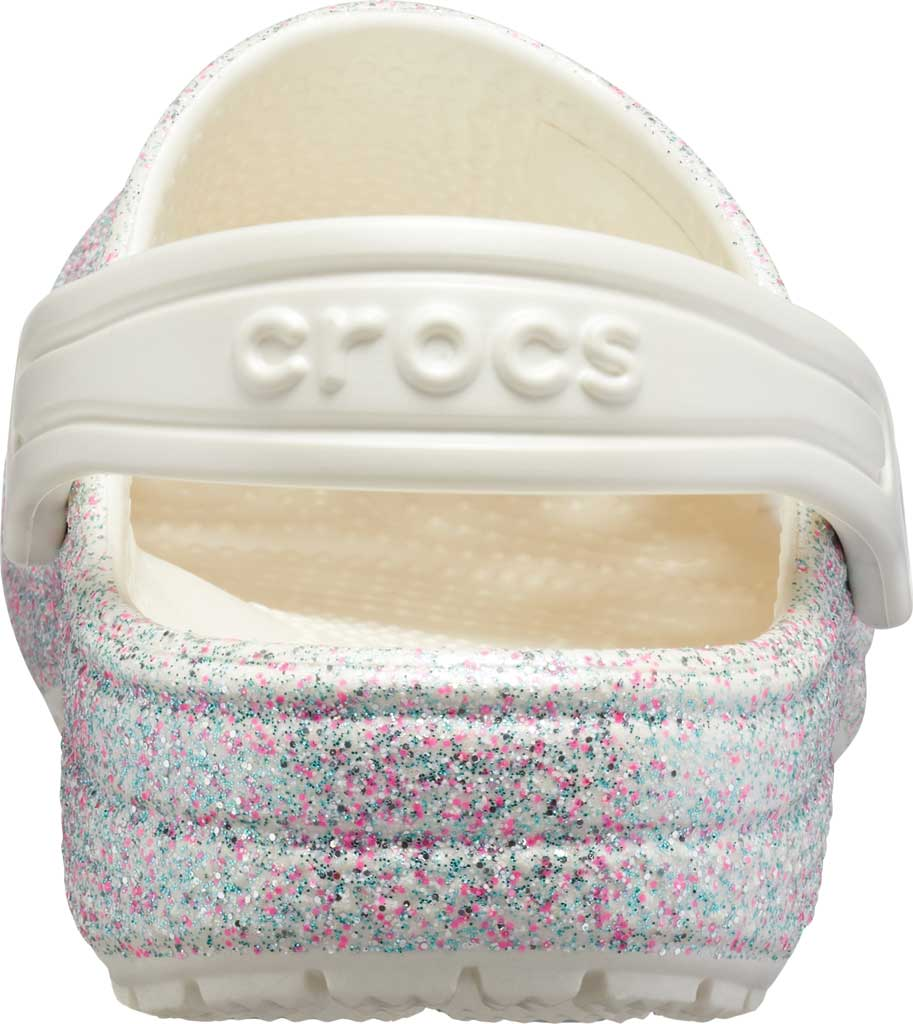Infant Crocs Classic Glitter Clog Kids, Oyster, large, image 3