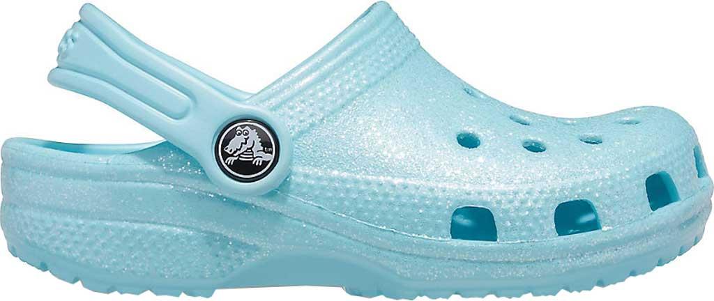 Infant Crocs Classic Glitter Clog Kids, Ice Blue, large, image 2