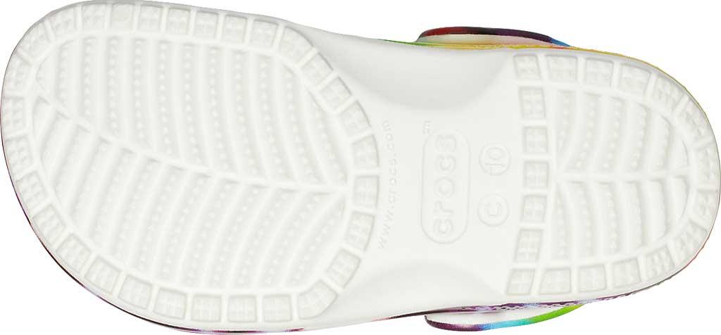 Infant Crocs Classic Tie Dye Graphic Clog Kids, Multi, large, image 5