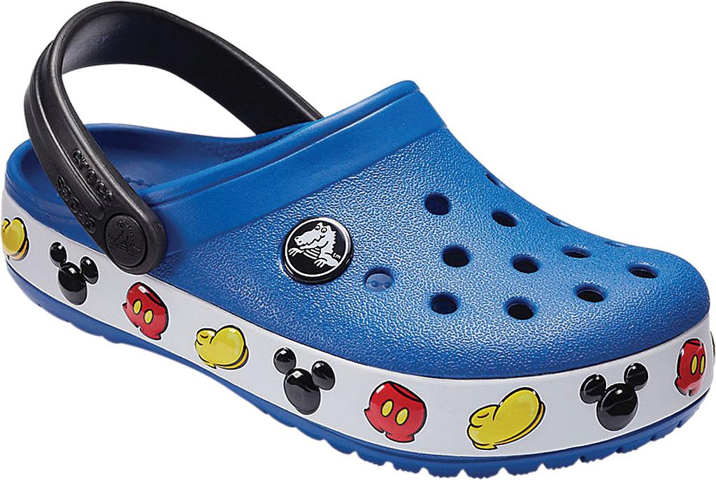 Children's Crocs Crocband Mickey Clog Junior, Blue Jean, large, image 1