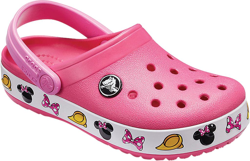 Girls' Crocs Crocband Minnie Clog Junior, Paradise Pink, large, image 1