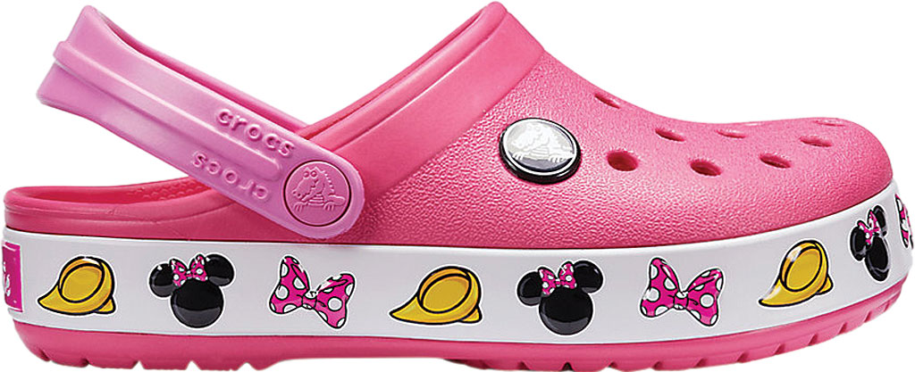 Girls' Crocs Crocband Minnie Clog Junior, Paradise Pink, large, image 2