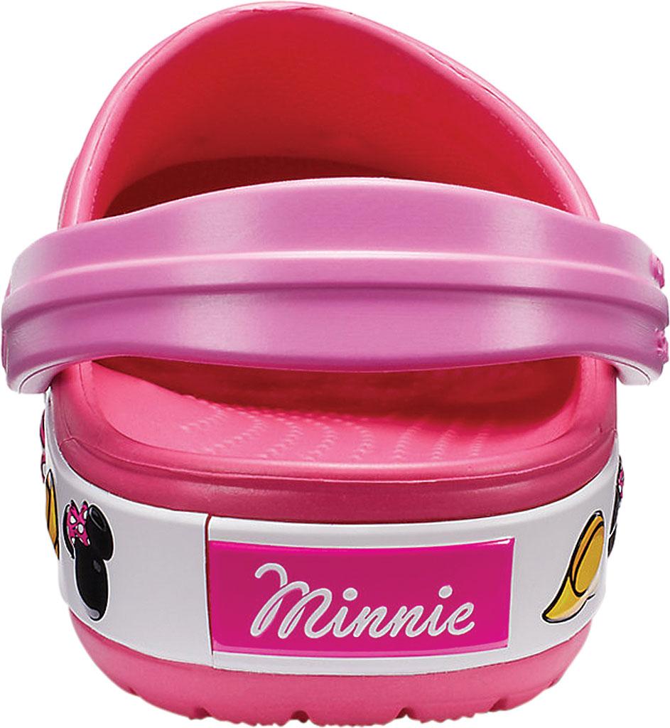 Girls' Crocs Crocband Minnie Clog Junior, Paradise Pink, large, image 3