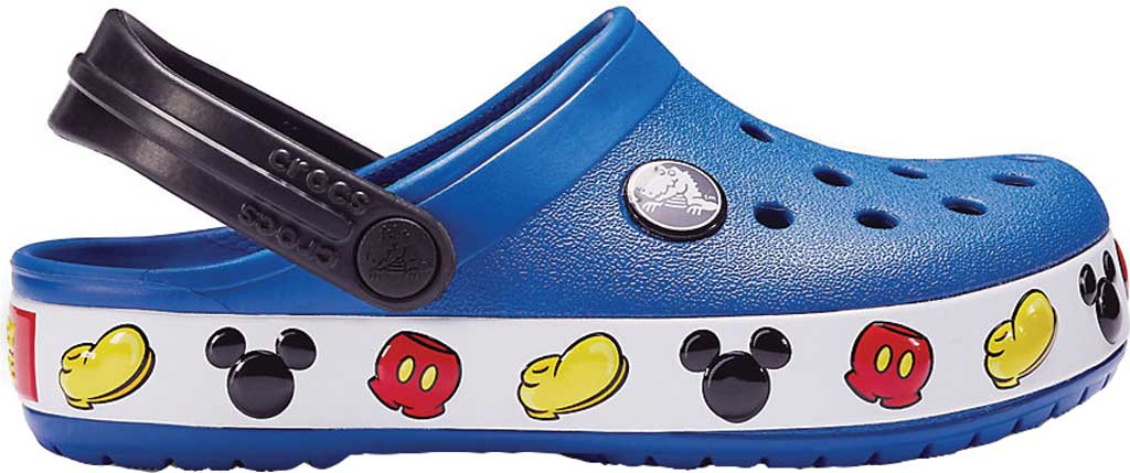 Infant Crocs Crocband Mickey Clog Kids, Blue Jean, large, image 2