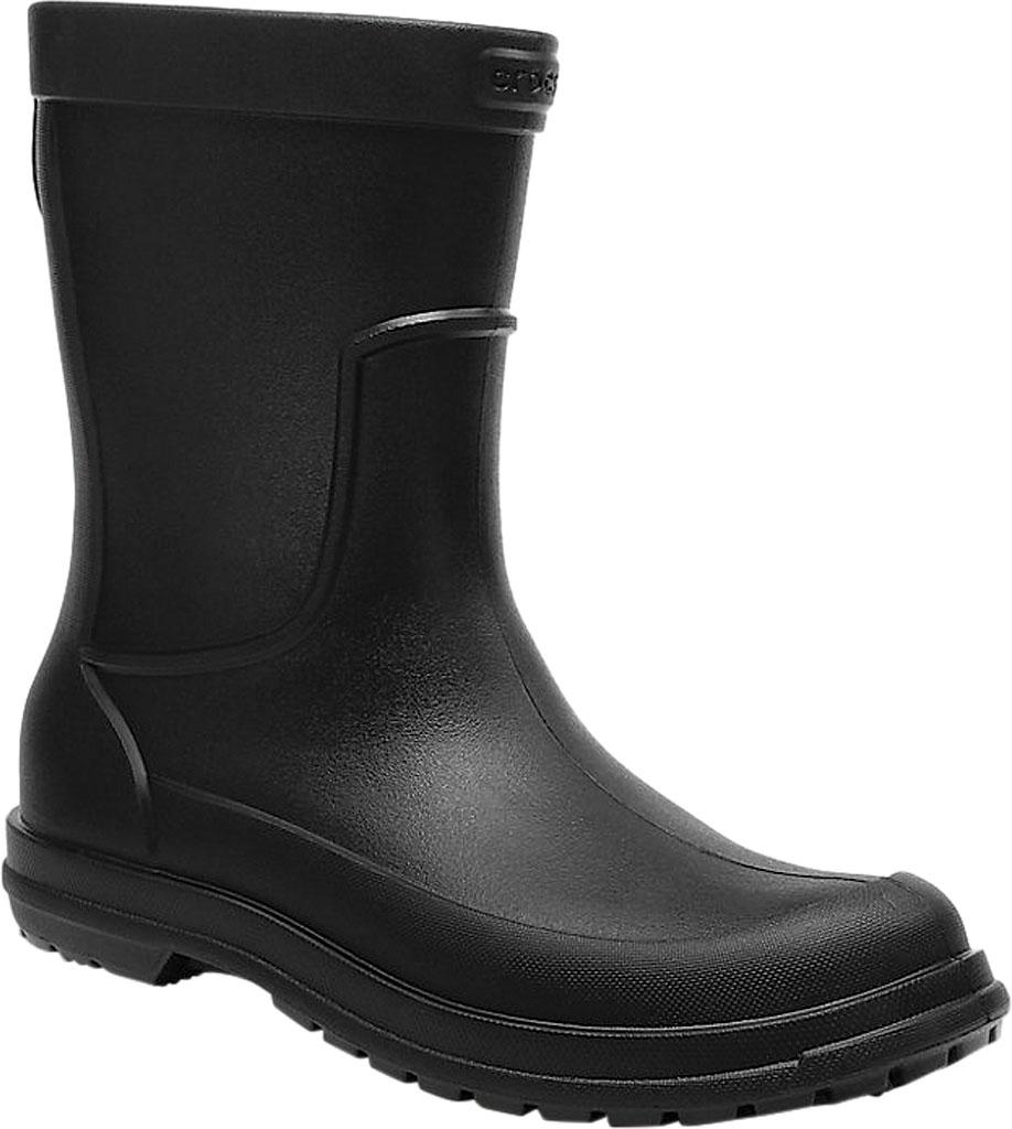 Men's Crocs All Cast Rain Boot, Black/Black, large, image 1