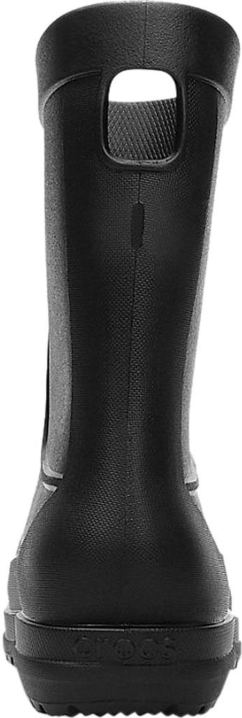 Men's Crocs All Cast Rain Boot, Black/Black, large, image 3