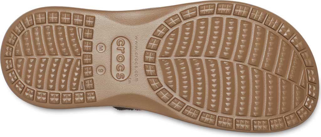 Men's Crocs Santa Cruz Canvas Flip Flop, Espresso/Khaki, large, image 5